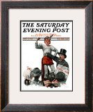 """Circus Strongman"" Saturday Evening Post Cover, June 3,1916 Framed Giclee Print by Norman Rockwell"