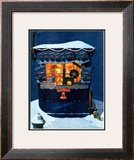 """Newsstand in the Snow"", December 20,1941 Framed Giclee Print by Norman Rockwell"