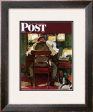 """It's Income Tax Time Again!"" Saturday Evening Post Cover, March 17,1945 Framed Giclee Print by Norman Rockwell"