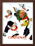 """White Christmas"", December 25,1937 Framed Giclee Print by Norman Rockwell"