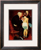 """Doc Melhorn and the Pearly Gates"", December 24,1938 Framed Giclee Print by Norman Rockwell"