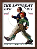 """Hikers"" Saturday Evening Post Cover, May 5,1928 Framed Giclee Print by Norman Rockwell"