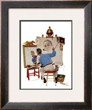 &quot;Triple Self-Portrait&quot;, February 13,1960 Framed Giclee Print by Norman Rockwell