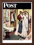 """Prom Dress"" Saturday Evening Post Cover, March 19,1949 Framed Giclee Print by Norman Rockwell"