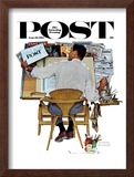 """Artist at Work"" Saturday Evening Post Cover, September 16,1961 Framed Giclee Print by Norman Rockwell"