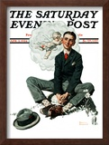 """Cupid's Visit"" Saturday Evening Post Cover, April 5,1924 Framed Giclee Print by Norman Rockwell"