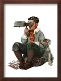 """Stereopticon"" or ""Sphinx"", January 14,1922 Framed Giclee Print by Norman Rockwell"