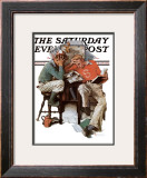 """Cramming"" Saturday Evening Post Cover, June 13,1931 Framed Giclee Print by Norman Rockwell"