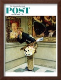 """""""Art Critic"""" Saturday Evening Post Cover, April 16,1955 Framed Giclee Print by Norman Rockwell"""