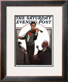 """Violin Virtuoso"" Saturday Evening Post Cover, April 28,1923 Framed Giclee Print by Norman Rockwell"