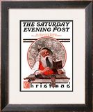 """Santa's Expenses"" Saturday Evening Post Cover, December 4,1920 Framed Giclee Print by Norman Rockwell"