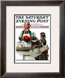 """""""Thoughtful Shopper"""" Saturday Evening Post Cover, May 3,1924 Framed Giclee Print by Norman Rockwell"""
