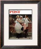 """""""After the Prom"""" Saturday Evening Post Cover, May 25,1957 Framed Giclee Print by Norman Rockwell"""