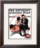 """Palm Reader"" or ""Fortuneteller"" Saturday Evening Post Cover, March 12,1921 Framed Giclee Print by Norman Rockwell"