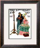 """Dressmaker"" Saturday Evening Post Cover, January 31,1931 Framed Giclee Print by Norman Rockwell"