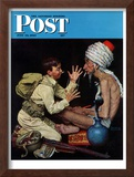 """Willie's Rope Trick"" Saturday Evening Post Cover, June 26,1943 Framed Giclee Print by Norman Rockwell"