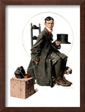"""Boy Taking His Self-Portrait"", April 18,1925 Framed Giclee Print by Norman Rockwell"