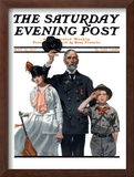 """Salute to Colors"" Saturday Evening Post Cover, May 12,1917 Framed Giclee Print by Norman Rockwell"