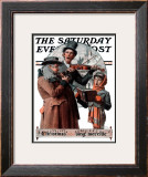 """Christmas Trio"" or ""Sing Merrille"" Saturday Evening Post Cover, December 8,1923 Framed Giclee Print by Norman Rockwell"