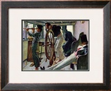 """River Pilot"", September 21,1940 Framed Giclee Print by Norman Rockwell"