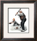 """Gramps at the Plate"", August 5,1916 Framed Giclee Print by Norman Rockwell"
