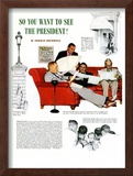 """So You Want to See the President"" A, November 13,1943 Framed Giclee Print by Norman Rockwell"