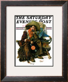 """Dreams of Long Ago"" Saturday Evening Post Cover, August 13,1927 Framed Giclee Print by Norman Rockwell"