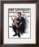 """Portrait"" Saturday Evening Post Cover, July 9,1921 Framed Giclee Print by Norman Rockwell"