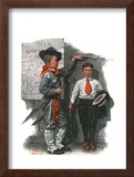 """Necessary Height"", June 16,1917 Framed Giclee Print by Norman Rockwell"