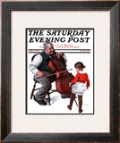 """Grandpa's Little Ballerina"" Saturday Evening Post Cover, February 3,1923 Framed Giclee Print by Norman Rockwell"