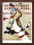 """""""Spilled Paint"""" Saturday Evening Post Cover, October 2,1937 Framed Giclee Print by Norman Rockwell"""