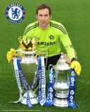 Chelsea_Cech-with Trophies Photographie