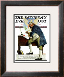 """Independence"" or ""Ben Franklin"" Saturday Evening Post Cover, May 29,1926 Framed Giclee Print by Norman Rockwell"