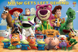 Toy Story 3 personnages, texte en anglais Affiches
