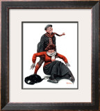 """Skating Lesson"", February 7,1920 Framed Giclee Print by Norman Rockwell"