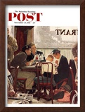 """Saying Grace"" Saturday Evening Post Cover, November 24,1951 Framed Giclee Print by Norman Rockwell"