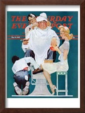 """Full Treatment"" Saturday Evening Post Cover, May 18,1940 Framed Giclee Print by Norman Rockwell"