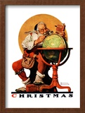 """Santa at the Globe"", December 4,1926 Framed Giclee Print by Norman Rockwell"