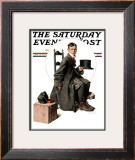 """Boy Taking His Self-Portrait"" Saturday Evening Post Cover, April 18,1925 Framed Giclee Print by Norman Rockwell"