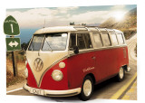 VW CAMPER - Route One, 3-D Poster Print