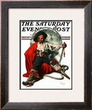 """Thoughts of Home"" Saturday Evening Post Cover, June 14,1924 Framed Giclee Print by Norman Rockwell"