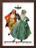 """Christmas Dance"" or ""Merrie Christmas"", December 8,1928 Framed Giclee Print by Norman Rockwell"