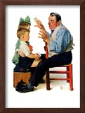 """Magician"" or ""Card Tricks"", March 22,1930 Framed Giclee Print by Norman Rockwell"