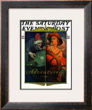 """Adventurers"" Saturday Evening Post Cover, April 14,1928 Framed Giclee Print by Norman Rockwell"