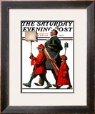 """Army March"" or ""Grand Reception"" Saturday Evening Post Cover, November 8,1924 Framed Giclee Print by Norman Rockwell"