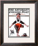 &quot;Leapfrog&quot; Saturday Evening Post Cover, June 28,1919 Framed Giclee Print by Norman Rockwell