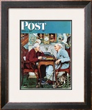 """April Fool, 1943"" Saturday Evening Post Cover, April 3,1943 Framed Giclee Print by Norman Rockwell"