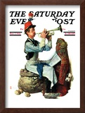 """Trumpeter"" Saturday Evening Post Cover, November 7,1931 Framed Giclee Print by Norman Rockwell"