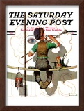 """Signpainter"" Saturday Evening Post Cover, February 9,1935 Framed Giclee Print by Norman Rockwell"