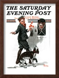 """Three's Company"" Saturday Evening Post Cover, June 19,1920 Framed Giclee Print by Norman Rockwell"
